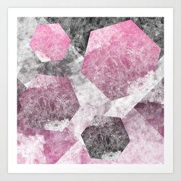 flatland 4 (pink) Art Print