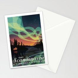 Scandinavia Northern Lights Stationery Cards
