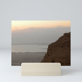 View of the Dead Sea from Mountain in Israel Mini Art Print