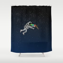 Spacetime Sadness Shower Curtain