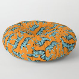 Tigers (Orange and Blue) Floor Pillow