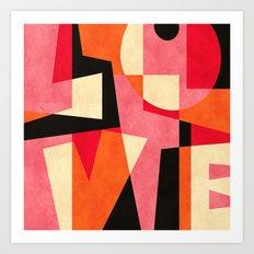 L_O_V_E Art Print