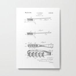 patent art Brown Toothbrush 1939 Metal Print