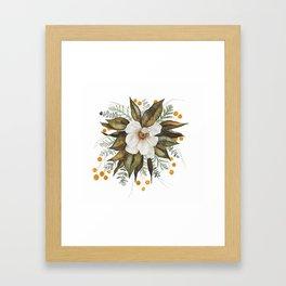 Magnolia Bouquet Framed Art Print