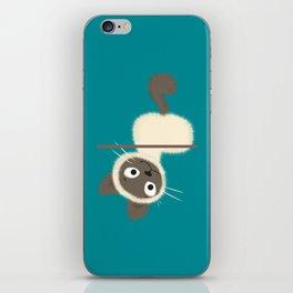 Funny Siamese Kitten upside down iPhone Skin
