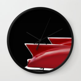 Cadillac Sharp Edged Fins Wall Clock