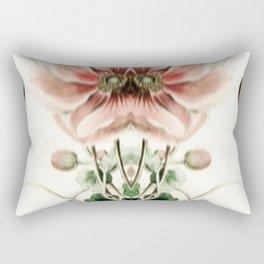 Botanical Flower Glitch IV Rectangular Pillow