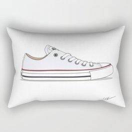 All Star White Rectangular Pillow