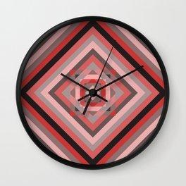 Retro geometry pastel colors pattern Wall Clock