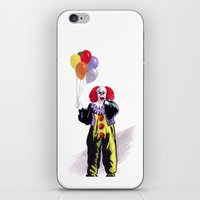 pennywise iPhone & iPod Skins featuring You All Taste So Much Better When You're Afraid by Zombie Rust