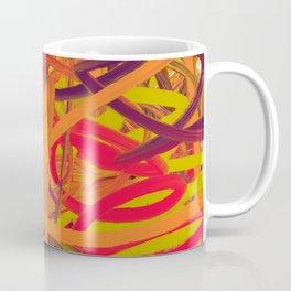 Orange Purple Green & Pink Abstract Coffee Mug