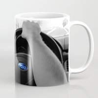 subaru Mugs featuring Subaru by Maggie Wheeler