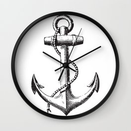 Anchor - Navy Symbol Wall Clock