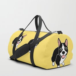 Happy Boston Terrier Duffle Bag