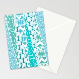 Patterned Triangles Stationery Cards