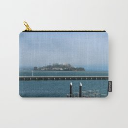 Alcatraz On A Foggy Morning Carry-All Pouch