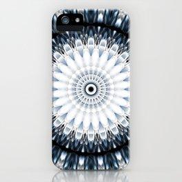 Magical winter fun mandala iPhone Case