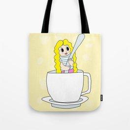 Biondina at coffee time Tote Bag