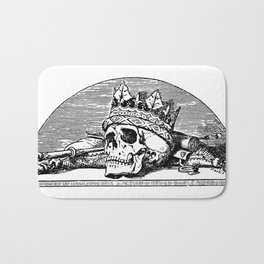 Skull with Crown Bath Mat