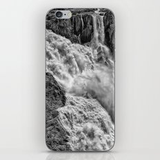 Black and White Beautiful Waterfall iPhone & iPod Skin