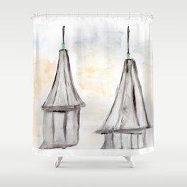 Twin Spires Churchill Downs Watercolor Art Louisville, Kentucky Shower Curtain