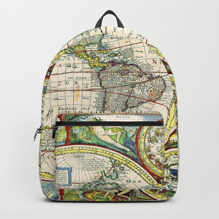 Vintage World Map Antique Backpack