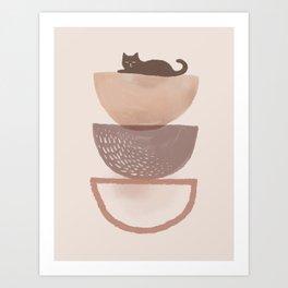 Hidden cat 7 abstract Pot balance  Art Print