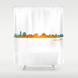 Jerusalem City Skyline Hq v1 Shower Curtain