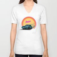 drive V-neck T-shirts featuring Drive by Villaraco