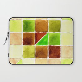 Color Chart - Quinacridone Burnt Orange DS and Phthalo Yellow Green DS Laptop Sleeve