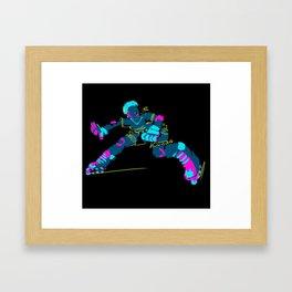 Electric Skater Framed Art Print