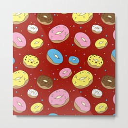 Cute Donuts Metal Print