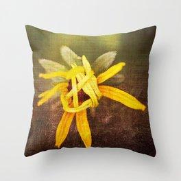 Shy Black Eyed Susan Throw Pillow