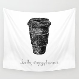Coffee Doodle Wall Tapestry