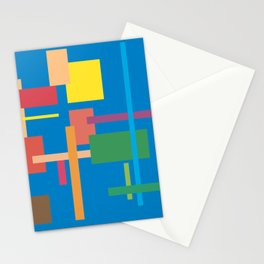 Imitation Blue Mid-20th Century Abstract Stationery Cards