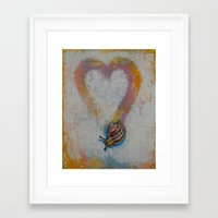 snail Framed Art Prints featuring Snail by Michael Creese