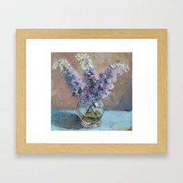Delphiniums Framed Art Print