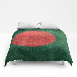 Flag of Bangladesh, Vintage Version Comforters