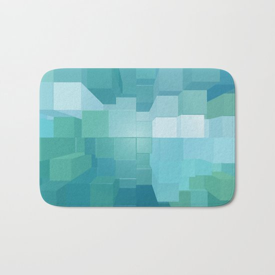 Blue and Green 3D Bath Mat