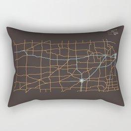 Kansas Highways Rectangular Pillow