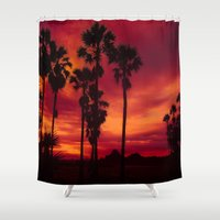 thailand Shower Curtains featuring Sunrise in Thailand by Aloke Photography