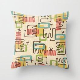 Mid Century Modern Abstract Pattern 731 Throw Pillow