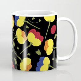 Garden Romantic Bold Poppies Floral Pattern Coffee Mug