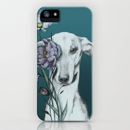 Greyhound Floro blue iPhone Case