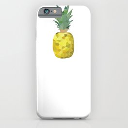 pineapple 1x3 pattern, fill, repeating, tiled | elegant iPhone Case