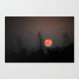 Blood Moon with Green Tinge Canvas Print