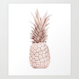 Pineapple Rose Gold Art Print