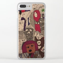 Daughter/Mother Doodle Clear iPhone Case