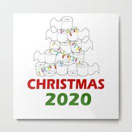Christmas Design Hoarding Toilet Paper Metal Print