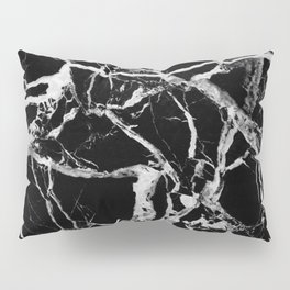 Black marble pattern Pillow Sham
